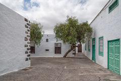 建筑学在特吉塞兰萨罗特岛西班牙 库存照片