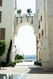 建筑学在蒂瓦特门的内哥罗的镇  库存照片