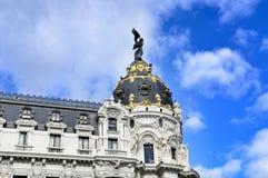建筑学在马德里,西班牙 库存图片