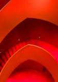 巴黎-建筑学城市的红色台阶 免版税图库摄影