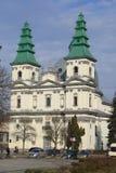 建筑学大教堂教会在捷尔诺波尔 免版税库存图片