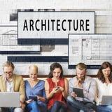 建筑学布局图纸修造修建概念 库存图片