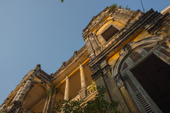建筑学殖民地金边,柬埔寨 免版税库存照片