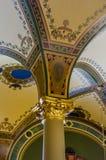 建筑学特写镜头细节,衣阿华状态国会大厦 免版税库存图片