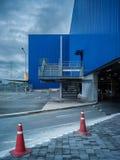 建筑学百货商店和街道的抽象派元素 免版税库存图片