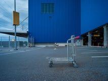 建筑学百货商店和街道的抽象派元素 免版税库存照片
