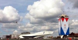 建筑学的高力学范围图片在阿姆斯特丹 免版税图库摄影