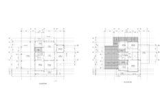 建筑学计划图画 库存图片