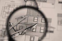 建筑学计划家 库存图片