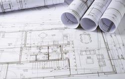 建筑学计划 免版税图库摄影