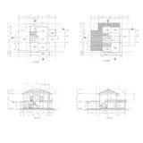 建筑学计划& setion图画 图库摄影