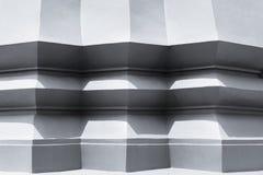 建筑学详述大厦壁角水泥样式阴影 免版税库存图片