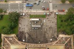 巴黎建筑学鸟瞰图从埃佛尔铁塔的。 库存图片