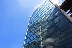 建筑学,未来派,现代,玻璃 免版税库存图片