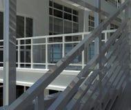 建筑学:楼梯和窗口 库存照片