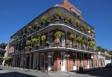 建筑学:法国街区-新奥尔良 库存图片