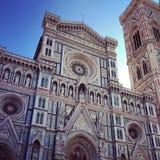 建筑学-佛罗伦萨中央寺院,意大利 库存图片