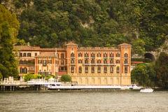 建筑学Cernobbio南湖科莫,意大利 库存图片