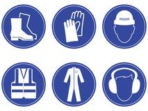 建筑安全标志 库存图片