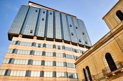 建筑对比 图库摄影