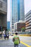 建筑工人在新加坡 库存图片
