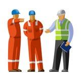建筑工人小组和经理 免版税库存图片