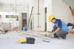 建筑工人工作 图库摄影