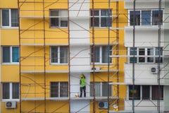 建筑工人队  免版税库存照片