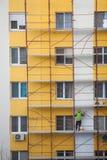 建筑工人队  图库摄影