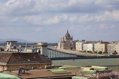 建筑工作在城市布达佩斯 免版税库存照片
