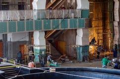 建筑工作,内部精整 免版税库存图片