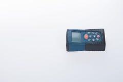 建筑工具或激光测距仪在背景 库存图片