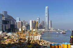 建筑工地在香港 免版税图库摄影