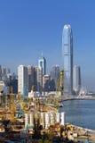 建筑工地在香港 免版税库存照片