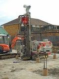 建筑工地重型设施设备 免版税库存照片