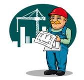 建筑工程师站点 免版税图库摄影