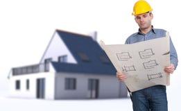 建筑师在工作 免版税库存图片