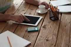 建筑师工作的概念 免版税库存照片