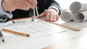 建筑师执行评定在草稿 充分的HD 影视素材