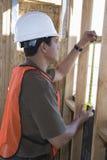 建筑师测量的窗口 图库摄影