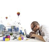 建筑师的创造性 免版税库存图片