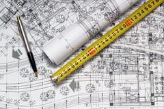 建筑师的工作场所 库存图片