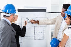 建筑师计划工作 免版税图库摄影