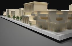 建筑师计划模型 库存照片
