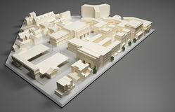 建筑师计划模型 库存图片