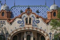 建筑师费伦茨Raichle房子在苏博蒂察,塞尔维亚 免版税库存图片