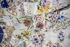 1905 1908年建筑师巴塞罗那修建了加泰罗尼亚的catalana卡塔龙尼亚音乐会de被设计的domenech花卉大厅我la lluis modernista montaner马赛克音乐musica宫殿贝劳样式是的西班牙 免版税图库摄影
