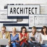 建筑师建筑学住房楼面布置图概念 库存照片
