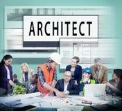 建筑师建筑学住房楼面布置图概念 库存图片