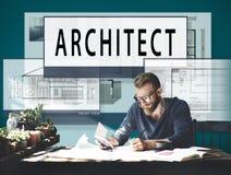 建筑师建筑学住房楼面布置图概念 图库摄影